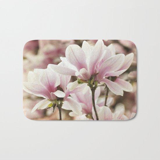 Beautiful Pink Magnolia Bath Mat