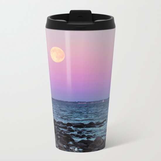 Full Moon on Blue Hour Metal Travel Mug
