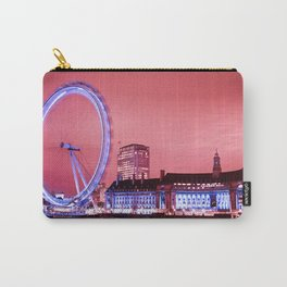 The London Eye, Pink Sky Carry-All Pouch