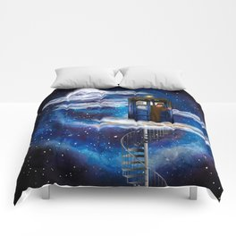 Live on the cloud in the BOX Doctor who iPhone 4 4s 5 5c 6 7, pillow case, mugs and tshirt Comforters