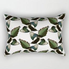 A Tiding Of Magpies Rectangular Pillow
