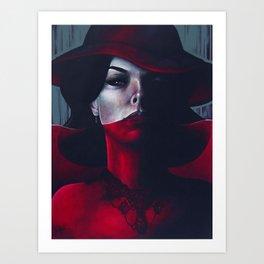 Miss Scarlet Art Print