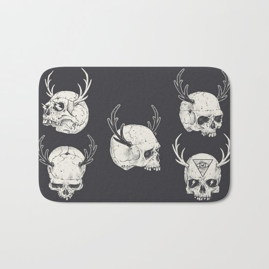 skulls & horns Bath Mat