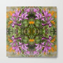 PASTEL PURPLE FLOWER  Metal Print