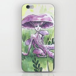 Empire of Mushrooms: Laccaria Amethystina iPhone Skin