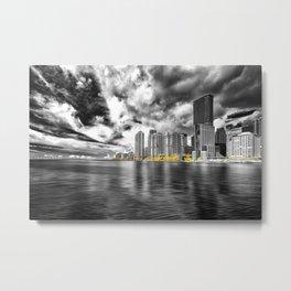 miami city skyline Metal Print