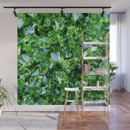 Green Crystals Wall Mural