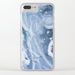 Earth blue Clear iPhone Case