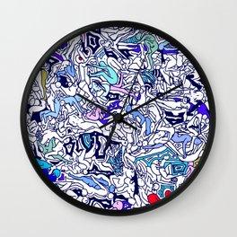 Kamasutra LOVE - Ultraviolet Purple Blue Wall Clock