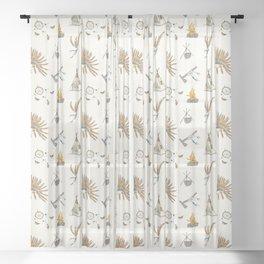 Native American tribal print Sheer Curtain
