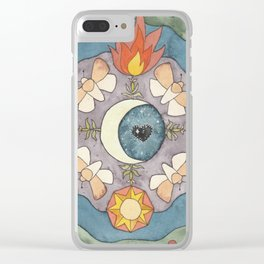 Cosmia Watercolor Clear iPhone Case