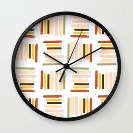 Random Lines Pattern Wall Clock