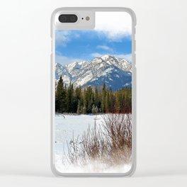 Scenic Cascade Mountain - Banff Alberta Clear iPhone Case