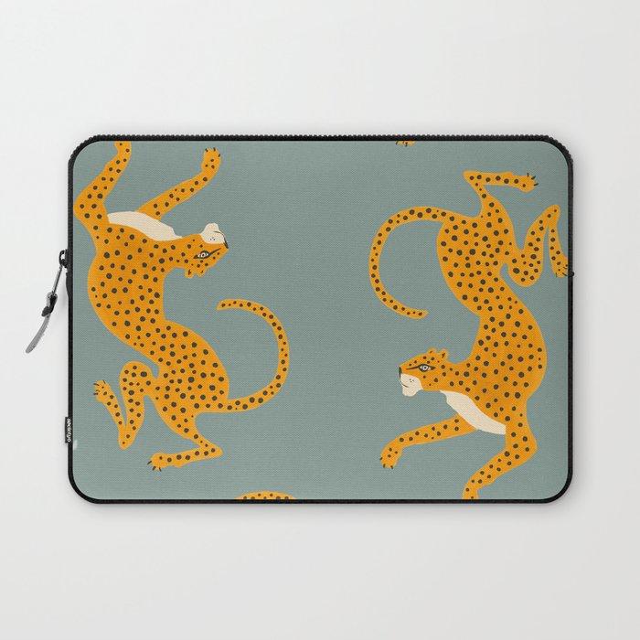 Leopard Race - blue Laptop Sleeve