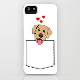 Yellow Lab Pocket Puppy iPhone Case