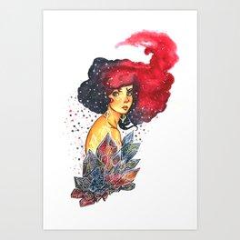 Cristals lady Art Print