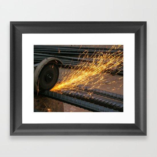 Like a Firework Framed Art Print