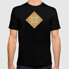 Deco abstraction MEDIUM Black Mens Fitted Tee