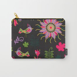 Birds in black background Carry-All Pouch