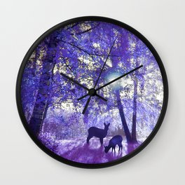 Deer In Another Light Wall Clock