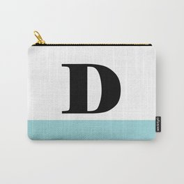 Monogram Letter D-Pantone-Limpet Shell Carry-All Pouch
