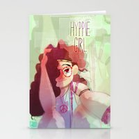 hippy Stationery Cards featuring Hippy girl by Francesco Malin