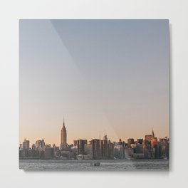 USA Photography - Sunset In New York City Metal Print
