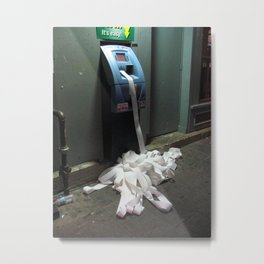 Glitch: ATM Machine Metal Print