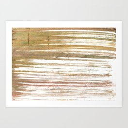 Light taupe abstract watercolor Art Print