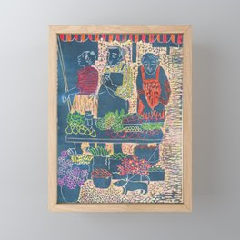 Farmers Market, color, 2007 Framed Mini Art Print