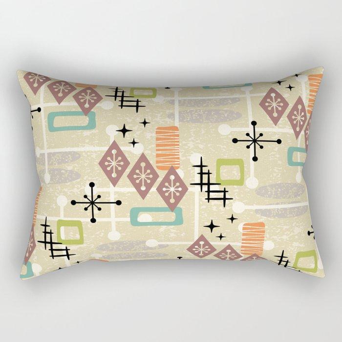 Retro Mid Century Modern Atomic Abstract Pattern 241 Rectangular Pillow