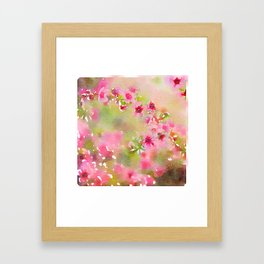 Pretty and Pink Framed Art Print