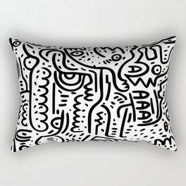 Street Art Graffiti Love Black and White Rectangular Pillow