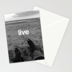 live more Stationery Cards