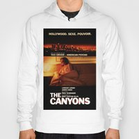 "lindsay lohan Hoodies featuring Lindsay Lohan ""The Canyons"" French Film Poster by Eric Terino"