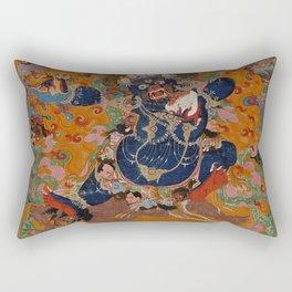 Yamantaka, Destroyer of the God of Death Rectangular Pillow