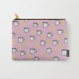 Ultimate coffee addicts good morning illustration pattern Carry-All Pouch
