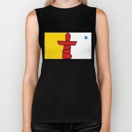 Flag of Nunavut - High quality authentic version Biker Tank