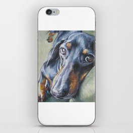 Dachshund Fine Art Dog Painting from an original painting by L.A.Shepard iPhone Skin