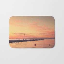 Trieste. Sunset over the Molo Audace. Bath Mat