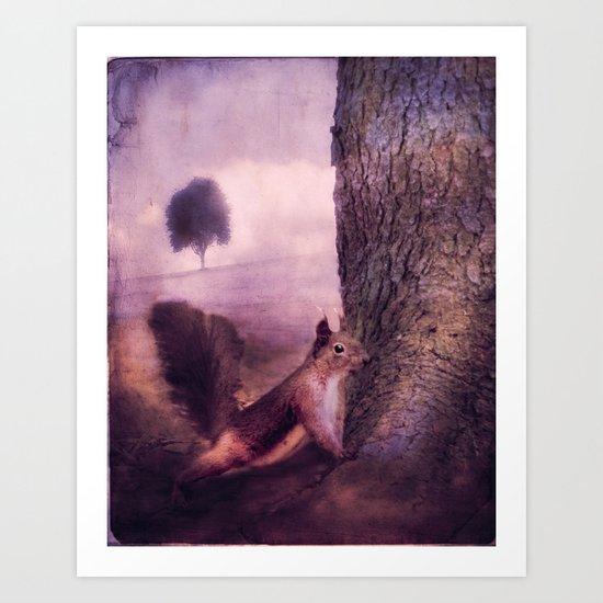 SQUIRREL'S WORLD Art Print