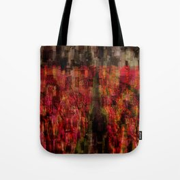 Field of Tulips Mosaic Tote Bag