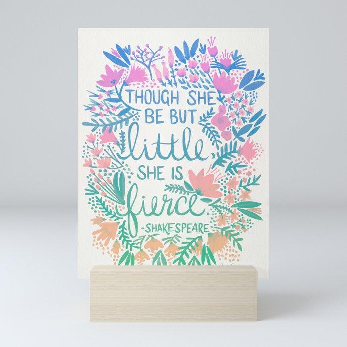 Little & Fierce – Lavender Mint Ombré Mini Art Print