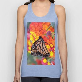 Monarch Feeding on Lantana Unisex Tank Top