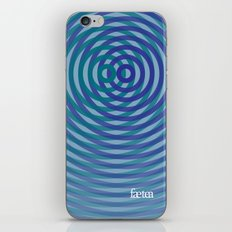 SoundWaves Teal/Indigo iPhone & iPod Skin