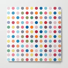 Polka Dots - Color Love Metal Print