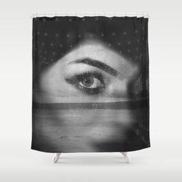 Street portrait and beach Shower Curtain