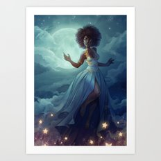 Lady of the sky Art Print