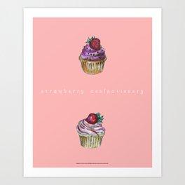 Cupcake confectionery. Art Print