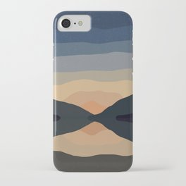 Sunset Mountain Reflection in Water iPhone Case